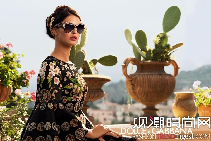 Bianca Balti拍摄Dolce & Gabbana2014春季眼镜广告高清图片