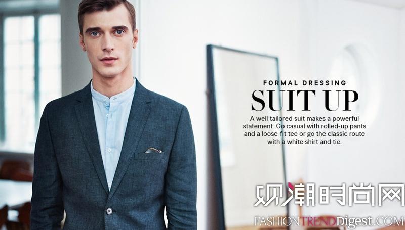Clement Chabernaud演绎H&M男装春夏新系列高清图片