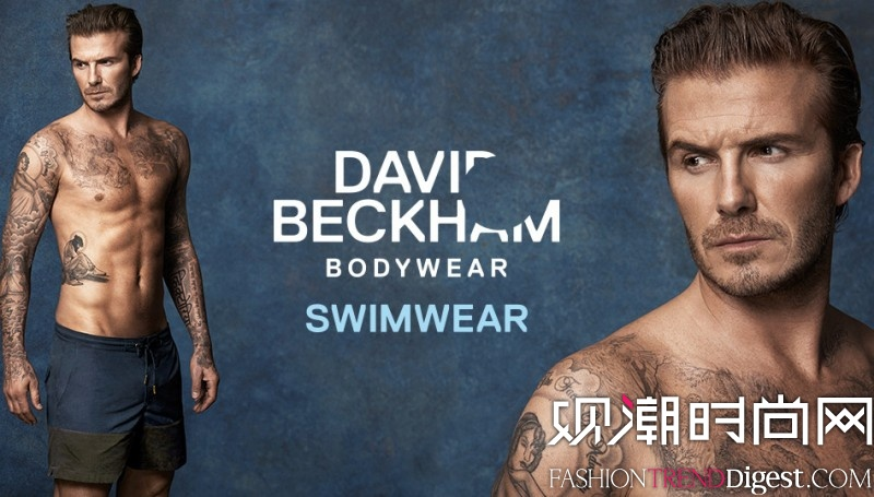 David Beckham与H&M合作款泳裤推出高清图片