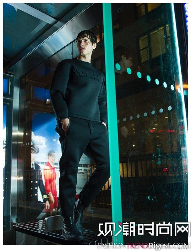 性感男神Adrian Cardoso演绎Alexander Wang for H&M最新广告大片高清图片
