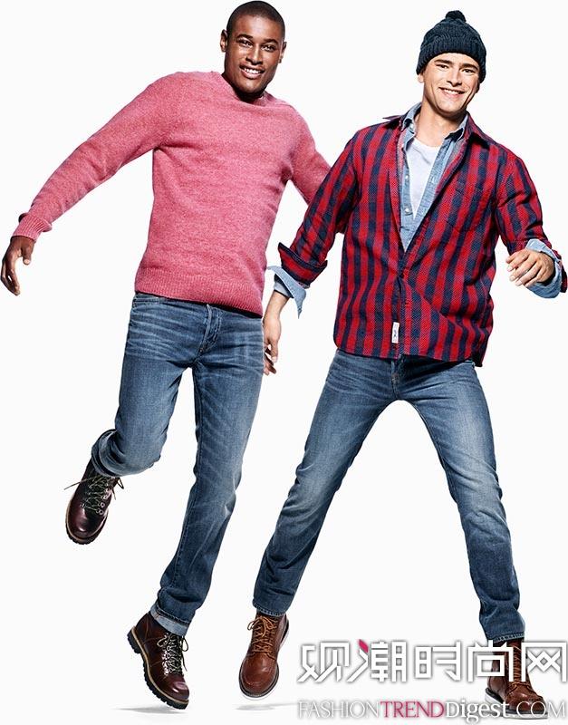 Models Roger Dupe携手Sean O'Pry演绎H&M holiday活动广告大片高清图片