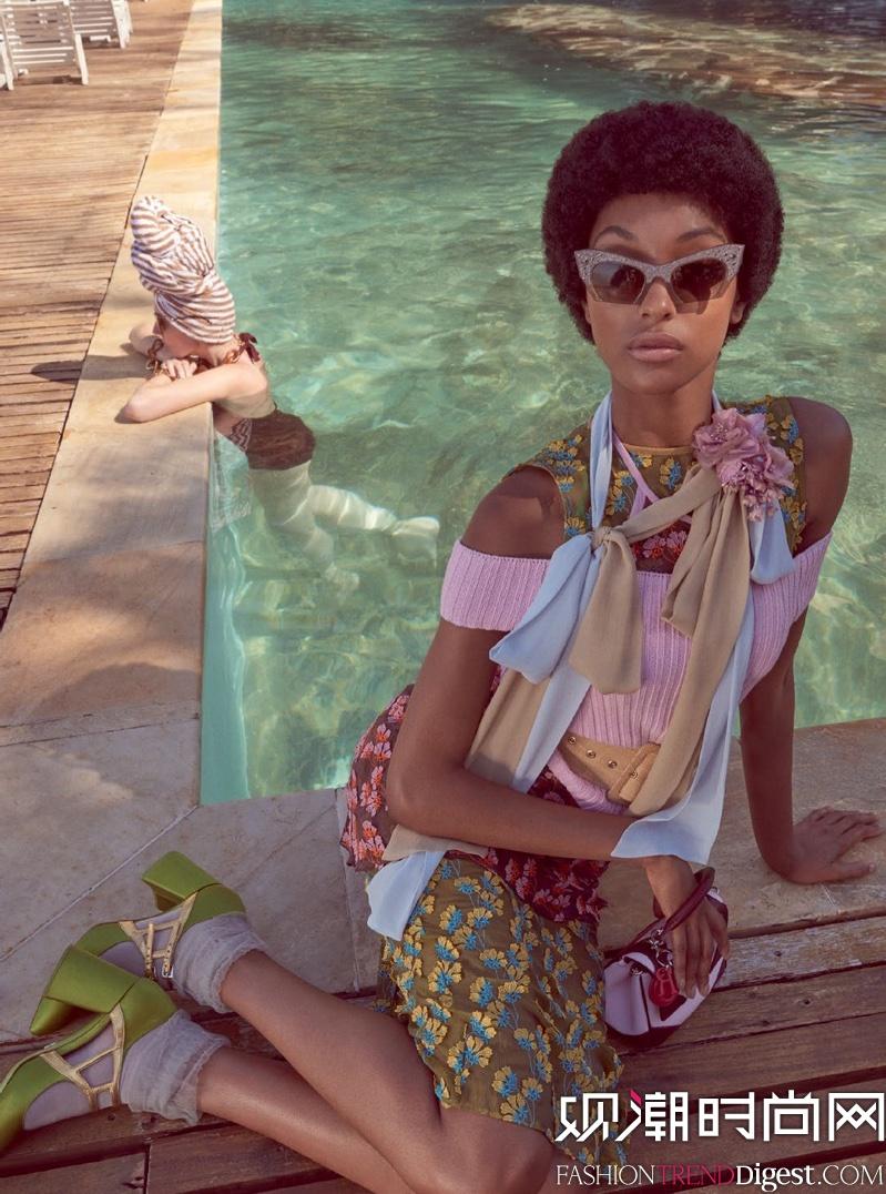 Jourdan stars演绎巴西版《Vogue》2016年2月杂志内页大片高清图片