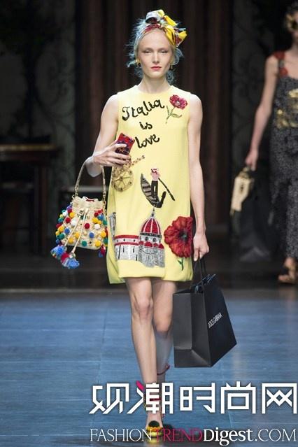 Dolce & Gabbana 2016春夏系列米兰时装周高清图片