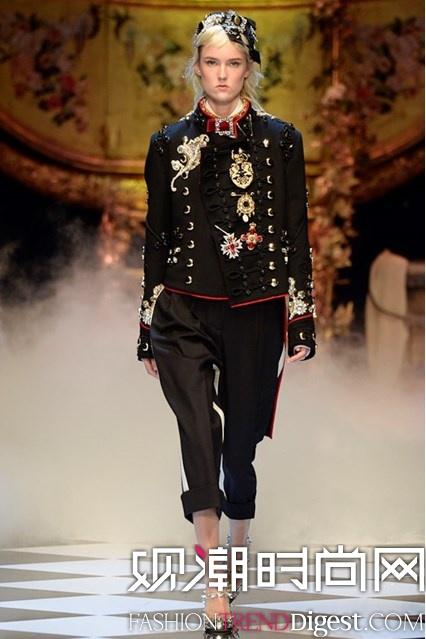 Dolce & Gabbana 2016秋冬系列米兰时装周高清图片