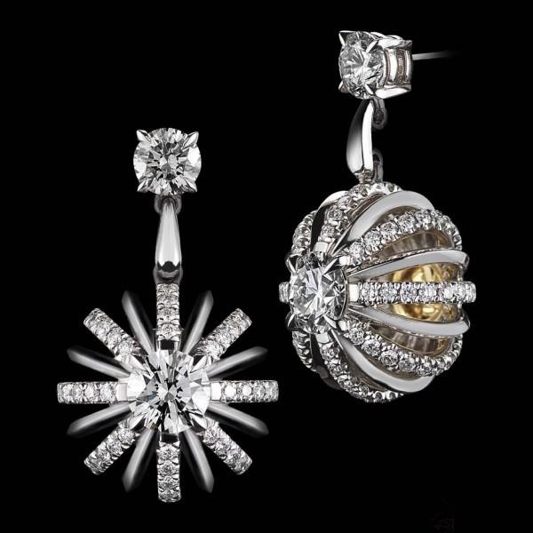 璀璨白色之光 属于圣诞节的钻石珠宝