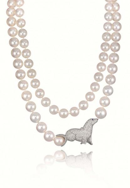 chopard 萧邦动物世界海狮珍珠项链