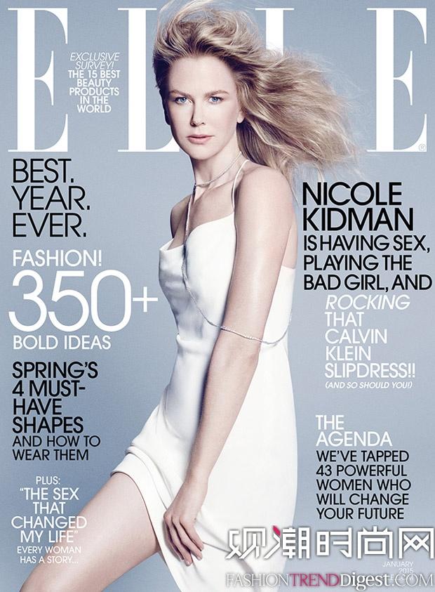 elle 官网_Nicole Kidman登上美国版《ELLE》2015年一月刊封面高清图片-品牌库 ...