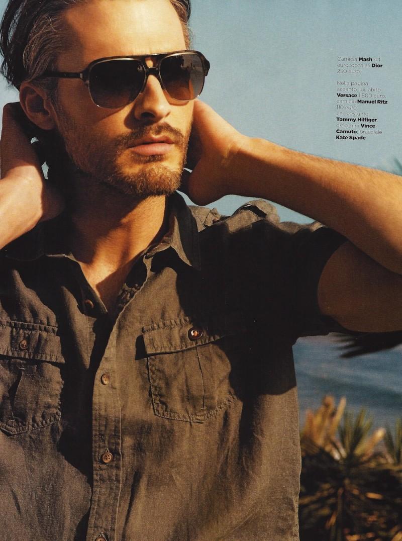美国男模ben Hill登上意大利版《gq》2013年5月号高清图片 品牌库 观潮时尚网