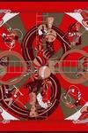 Hermes推出圣诞红色系列丝巾