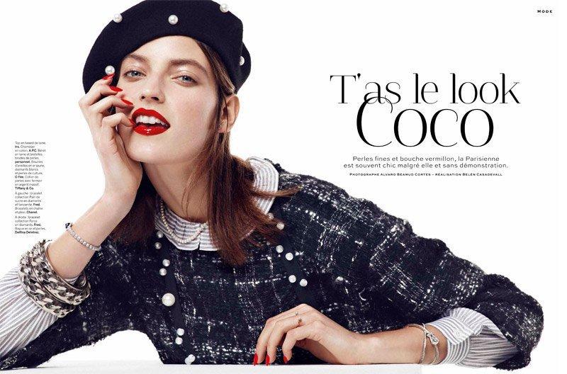 超模Marikka Juhler演绎Chanel新系列高清图片