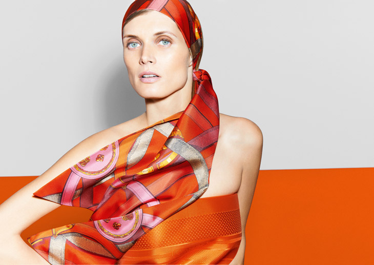 Malgosia Bela Stuns为Hermès拍摄广告片高清图片