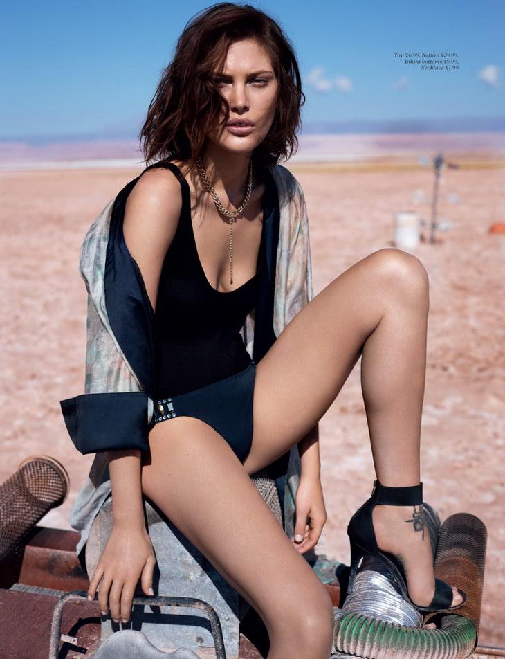 Catherine McNeil为H&M 2013Summer系列拍摄广告高清图片