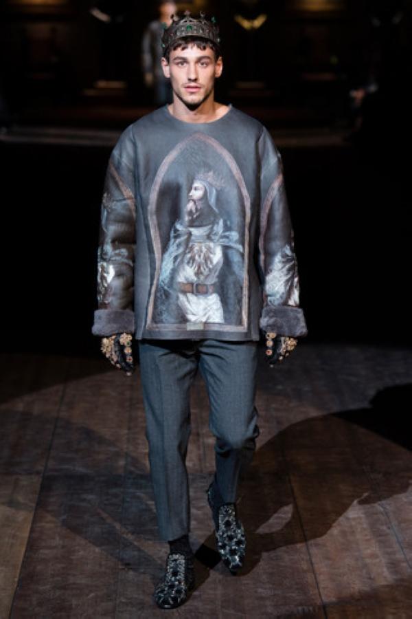 """Dolce & Gabbana 2014秋冬男装系列之""""辉煌的西西里诺曼王朝"""""""
