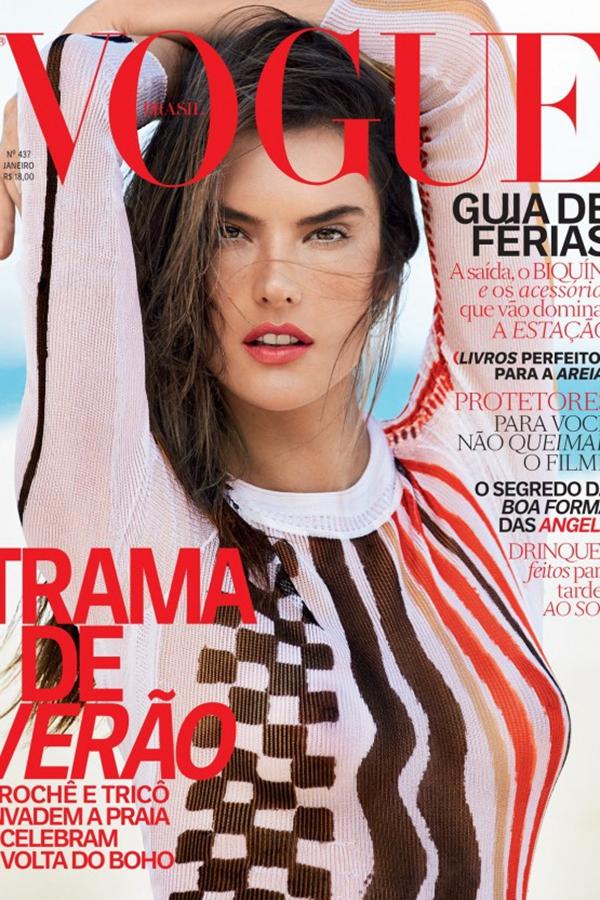 Ambrosio登上巴西版《Vogue》2015年1月刊封面