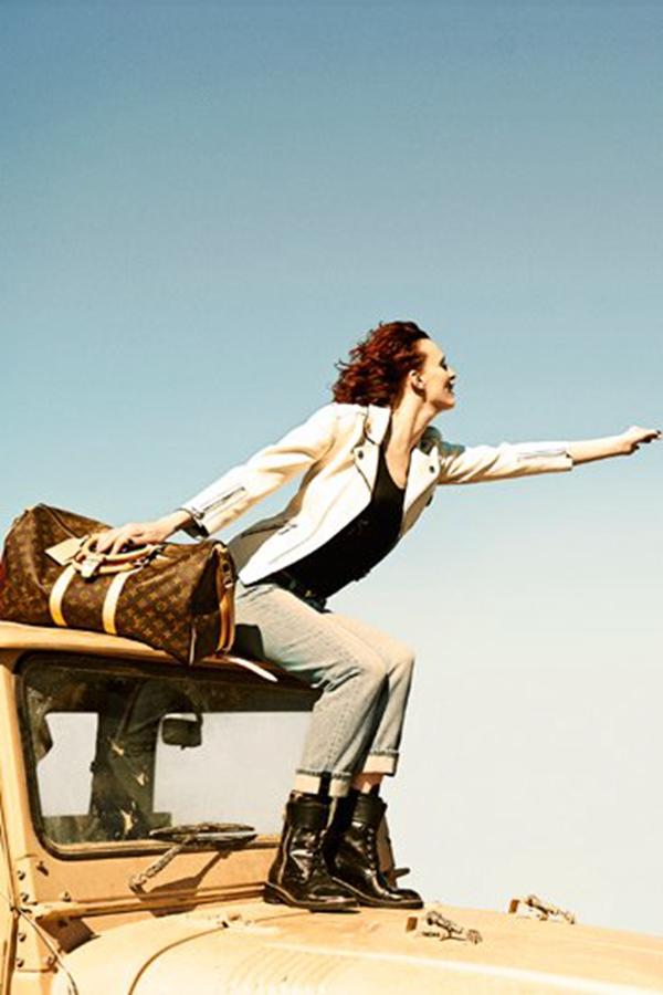 Karen Elson携手Edie Campbell拍摄Louis Vuitton非洲风情大片