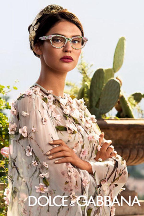 Bianca Balti拍摄 Dolce & Gabbana 2014眼镜系列广告大片