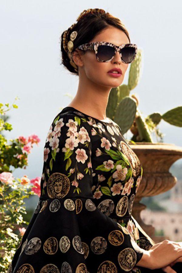 Bianca Balti拍摄Dolce & Gabbana2014春季眼镜广告
