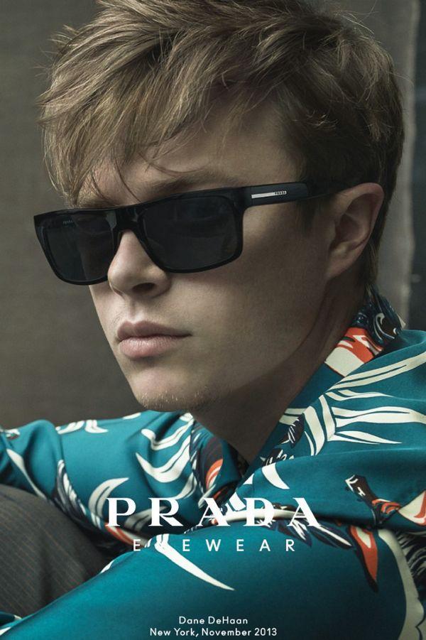 Dane DeHaan拍摄Prada 2014春夏新款眼镜系列广告