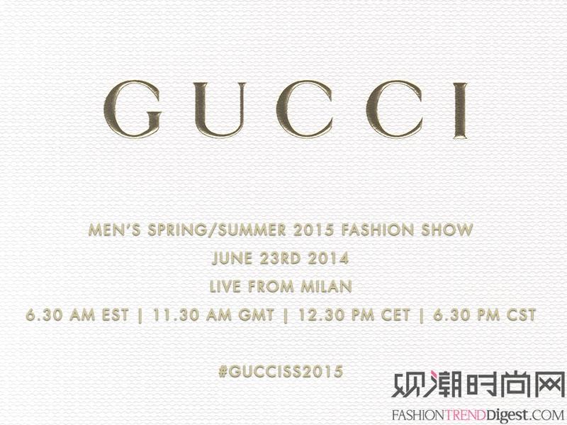 GUCCI 2015春夏米兰男装周秀场直播高清图片