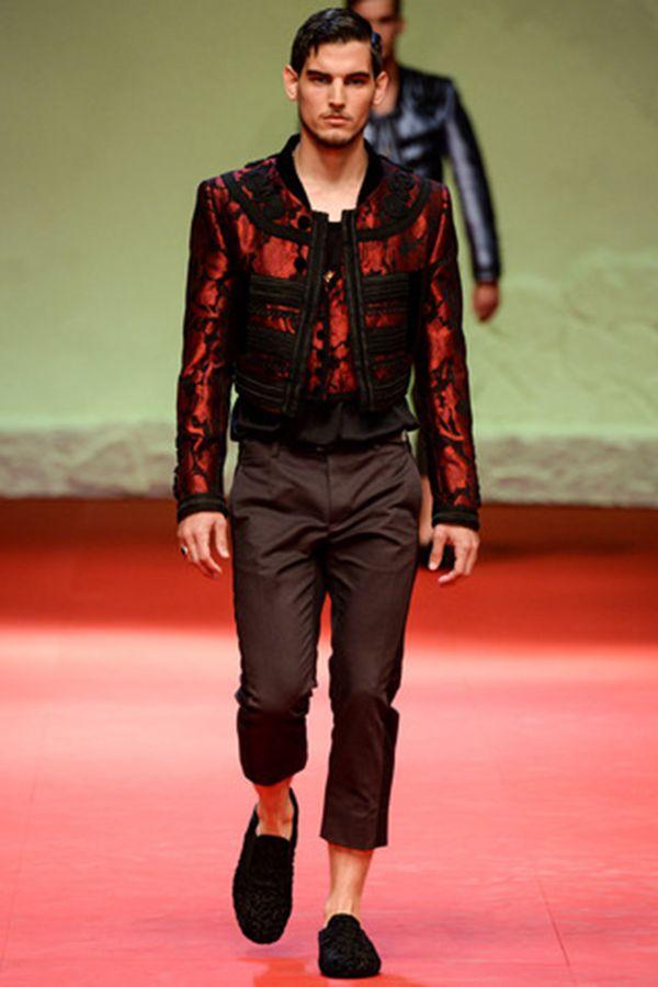 Dolce & Gabbana 2015春夏米兰男装周秀场