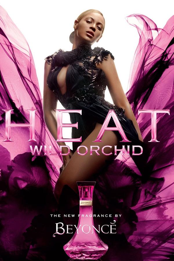 碧昂丝穿Gucci礼服演绎Heat系列Wild Orchid香水广告