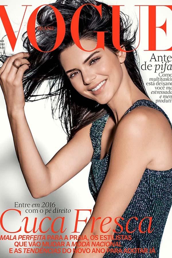 Kendall Jenner登上巴西版《Vogue》2016年1月杂志封面