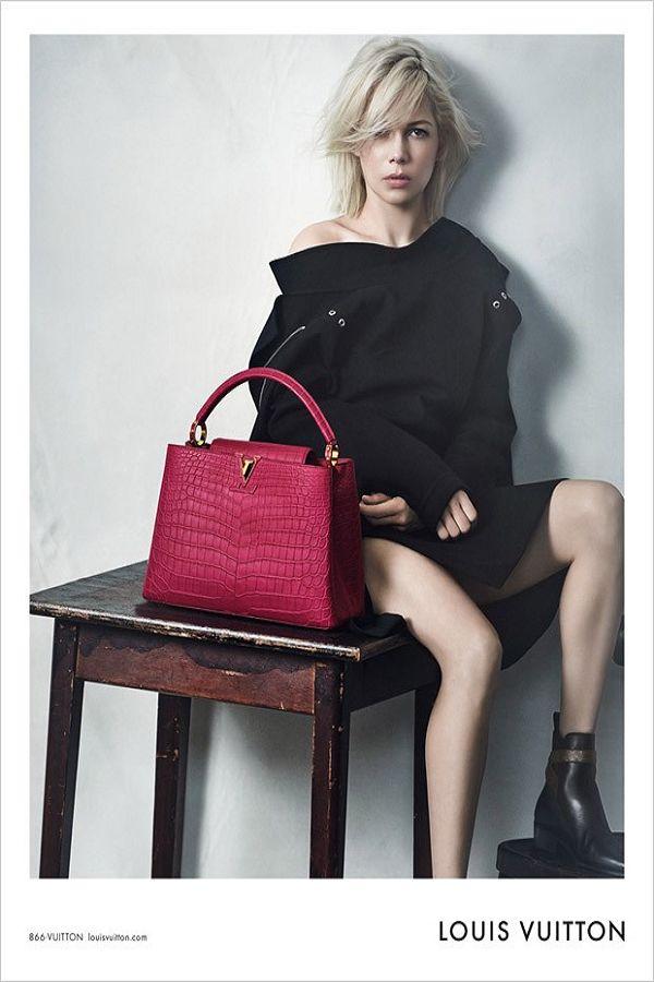 Michelle Williams演绎Louis Vuitton 2015春夏包袋系列万种风情