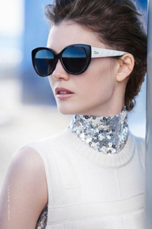 Diana Moldovan拍摄Dior眼镜系列广告