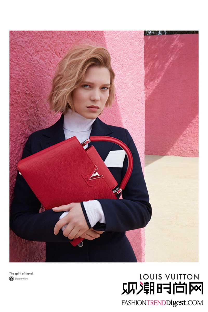 Lea Seydoux 演绎Louis Vuitton 2016HANDBAG广告大片高清图片
