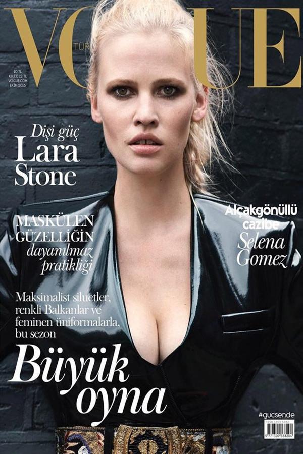 Lara Stone演绎Louis Vuitton2016年10月杂志封面