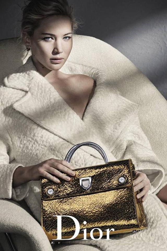 Jennifer Lawrence为Dior2016年秋冬手包系列演绎广告大片