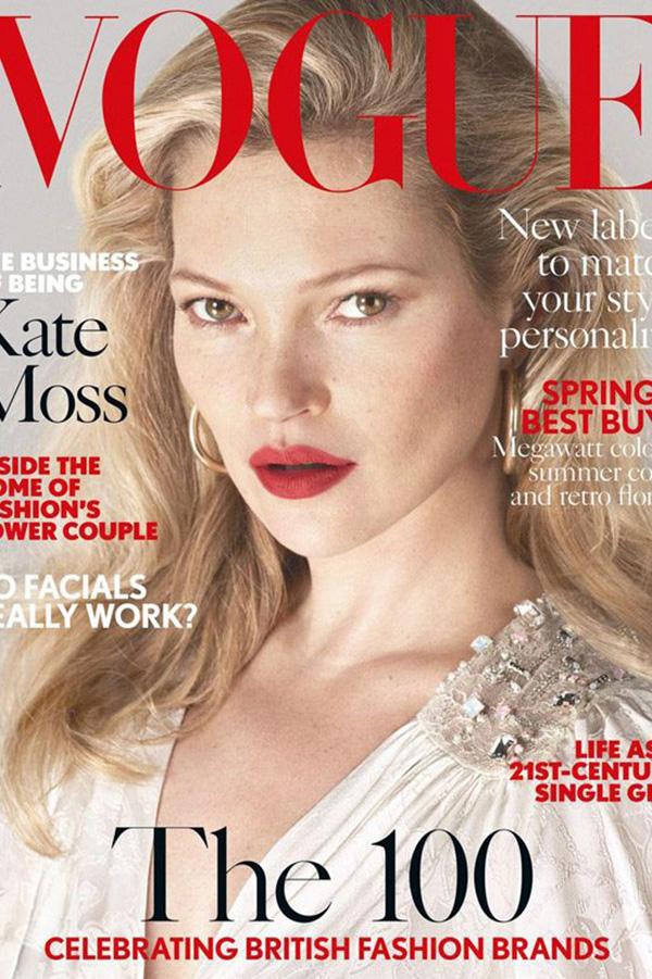 Kate Moss登上巴西版《VOGUE》2017年4月杂志封面