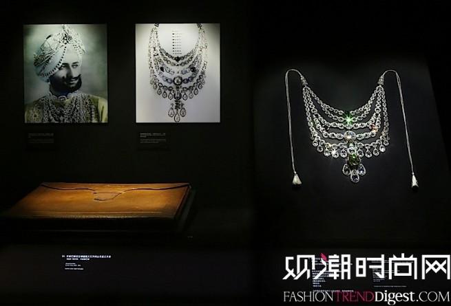 巴提亚拉项链 1928年卡地亚巴黎,特别订制, 卡地亚巴黎高级珠宝工坊于2000年-2001年修复铂金旧式切割及玫瑰式切割钻石(链条和搭扣)