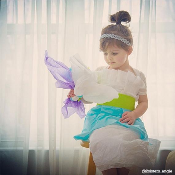妈妈与4岁女儿的手工作坊 厉害的纸质时装作品