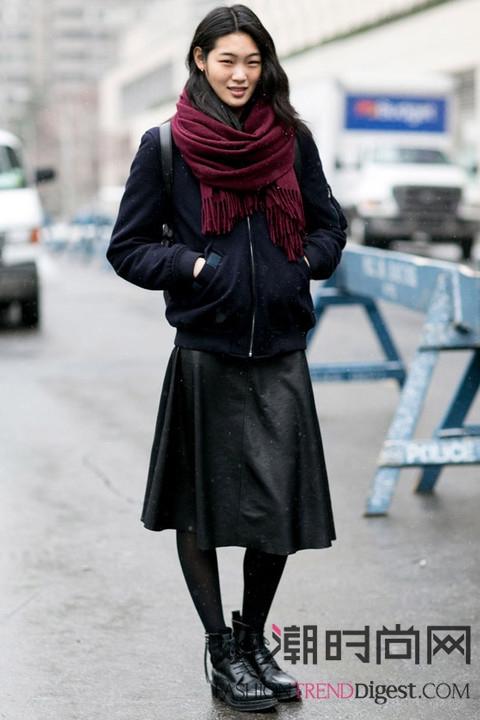2015纽约时装周 人气模特...