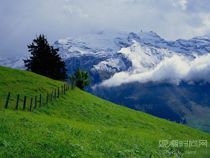 夏天想玩雪就去瑞士铁力士山
