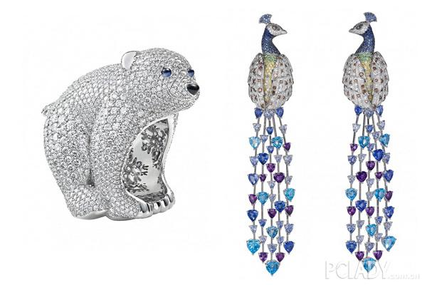 奢华璀璨的宝石与可爱小动物造型的结合,更让华丽珠宝产生了完全不同