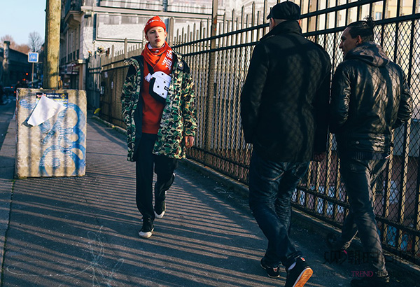 2016秋冬巴黎男装周街拍