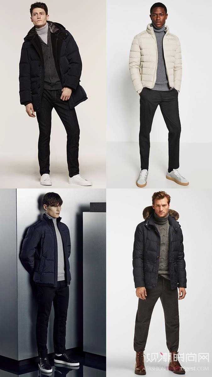如何穿好填充物绗缝夹克
