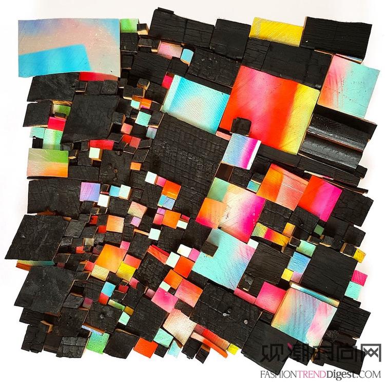 艺术家使用木屑为我们塑造出颜...