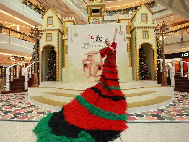 上海ifc商场 星级圣诞杂技体操表演