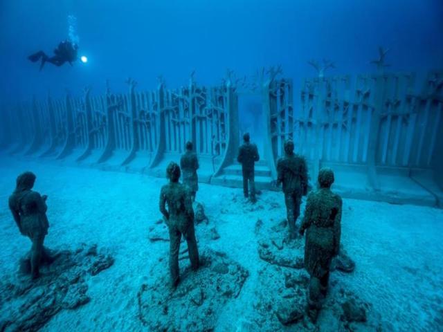 欧洲的第一个水下博物馆与加那利群岛开放