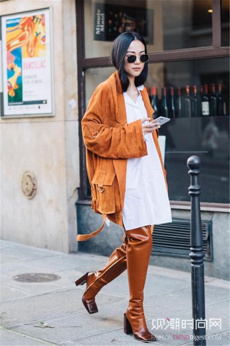 秋季街头抢眼单品,连衣裙才是最佳