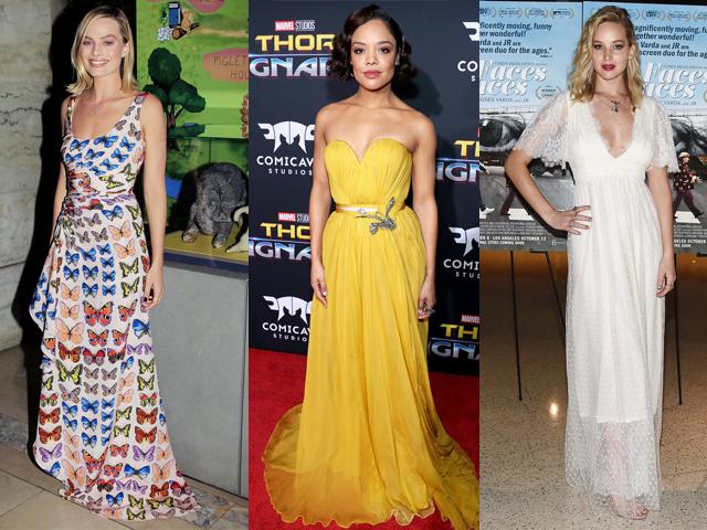 女明星红毯秀:这些连衣裙好美
