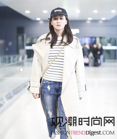 跨年怎么穿?女明星最新机场秀