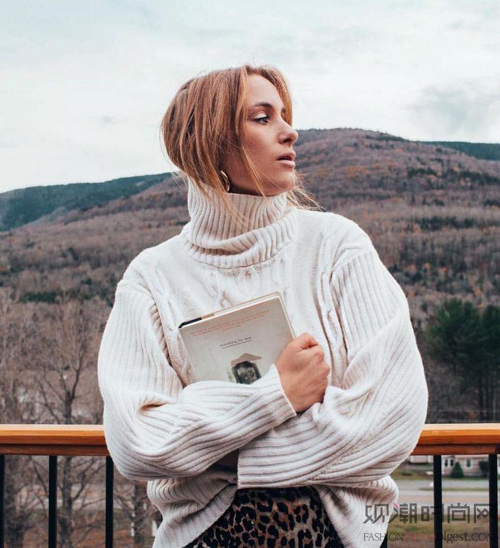 一点也不无聊 冬天的毛衣依旧...