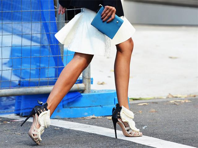 秒变仙女的细跟鞋穿搭范例