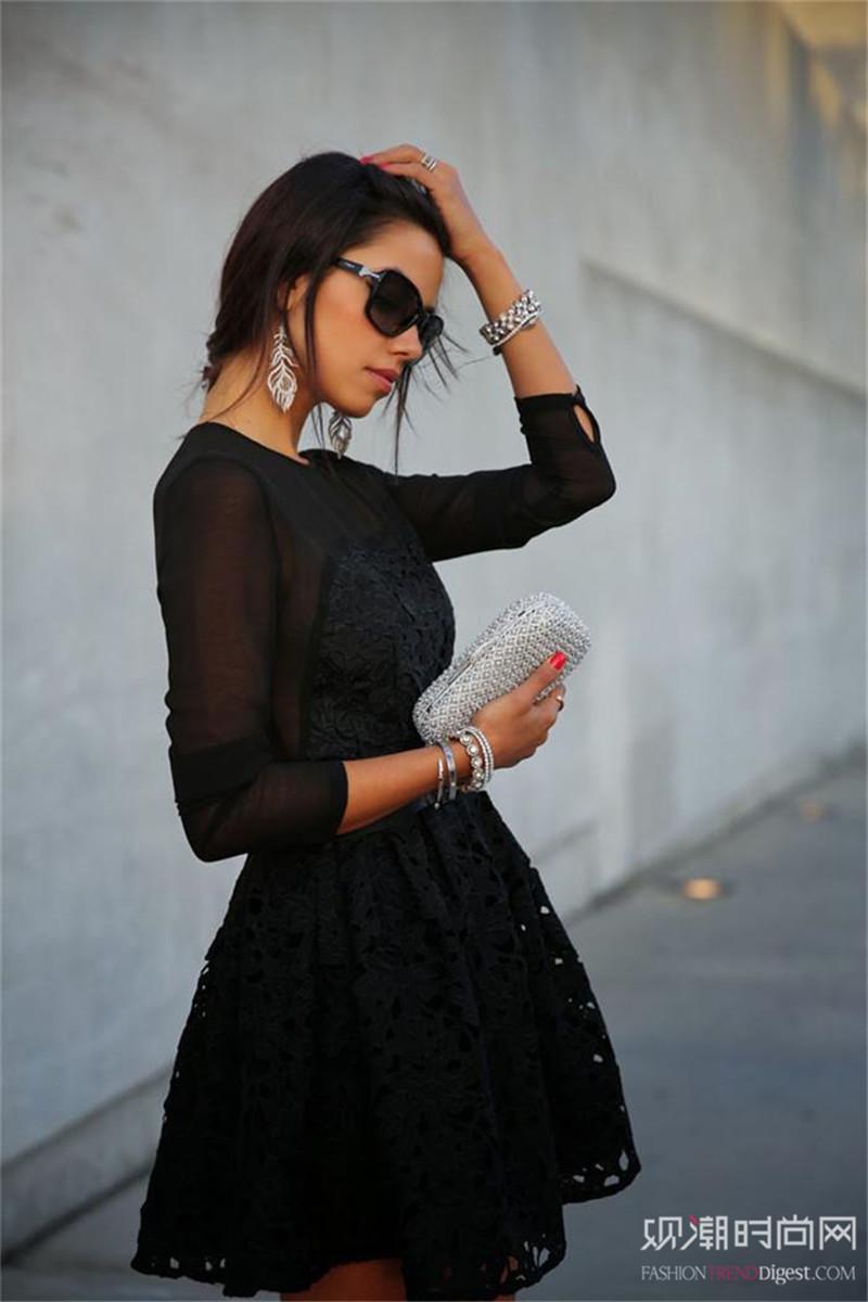 蕾丝裙究竟多有魅力?让当季街...