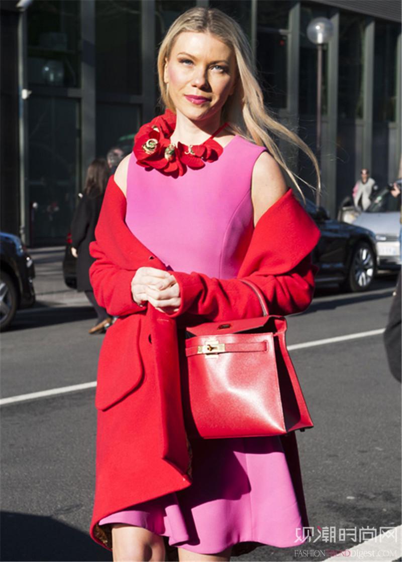 春季粉嫩穿搭,时髦出挑不跟风