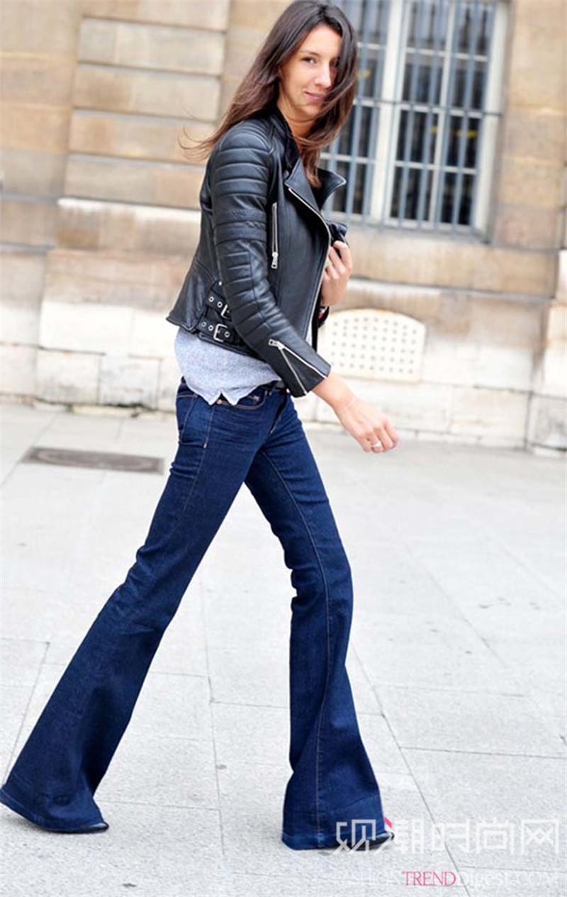 喇叭裤这样穿,轻松拥有逆天大长腿
